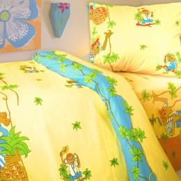 Постіль в дитяче ліжечко «Мавпочки»